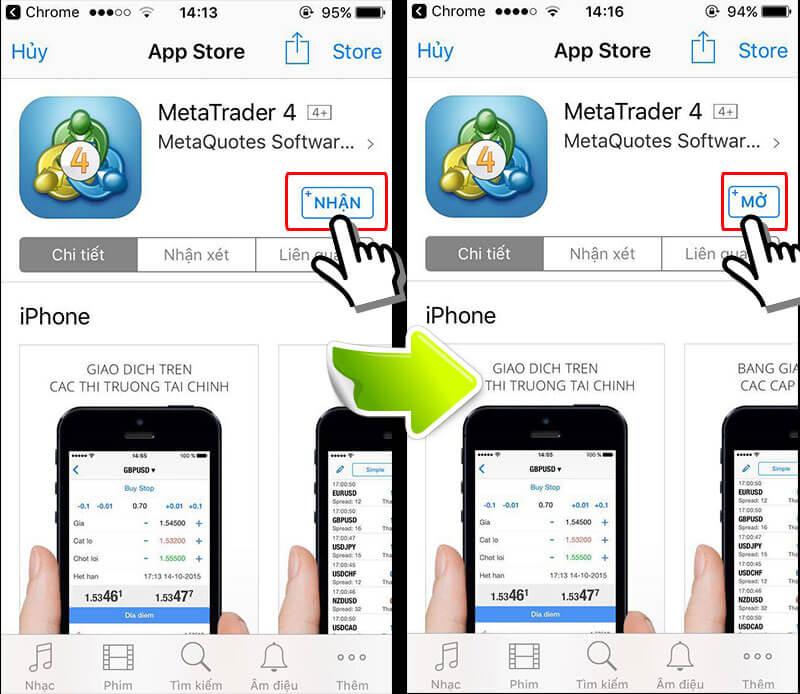 Hướng dẫn sử dụng MT4 tải phần mềm bằng điện thoại