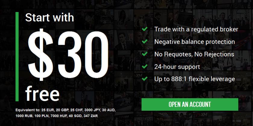 Sàn tặng tiền XM bonus 30$ cho người tham gia