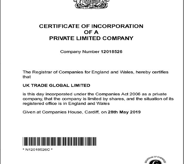 Giấy phép hoạt động của sàn UKTrade Global không có thông tin cụ thể